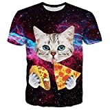 Hgvoetty Unisex Cool Lovely Cat Design 3d Printed Short Sleeve T Shirts Tees S