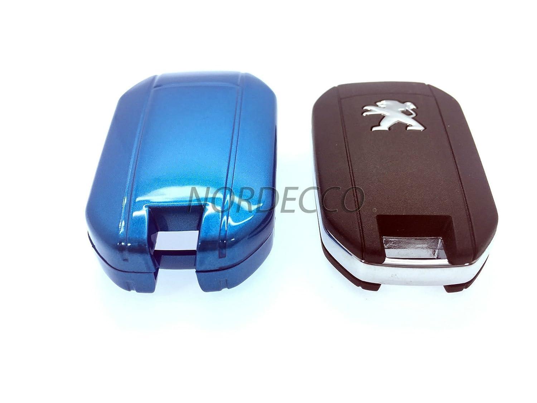 Protex Coque de Protection en Plastique ABS Rigide Finition Brillante pour Cl/é de Mod/èles Peugeot GTI 208 2013 2013 2014 2015 2016 et 508 2008 3008 Bleu