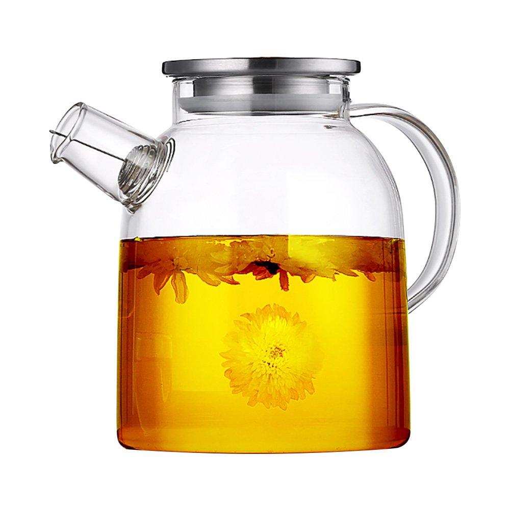 Keramik Story Borosilikat Glas Wasser Krug Karaffe, Eistee und Saft Krug, Wasserkrug, glas, farblos, 1600ml LTD