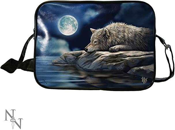 Amazon.com: Lisa Parker Quiet Reflection Wolf Art Side Bag ...