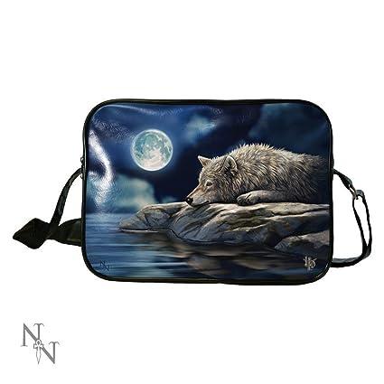 Amazon.com: Lisa Parker Quiet Reflection Wolf Art Side Bag ...