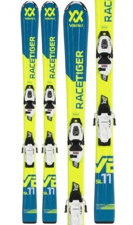Völkl Racetiger JR Yellow/Motion Skiset 130-160 cm `19 Länge 130, Montage Montage nach Sohlenlänge