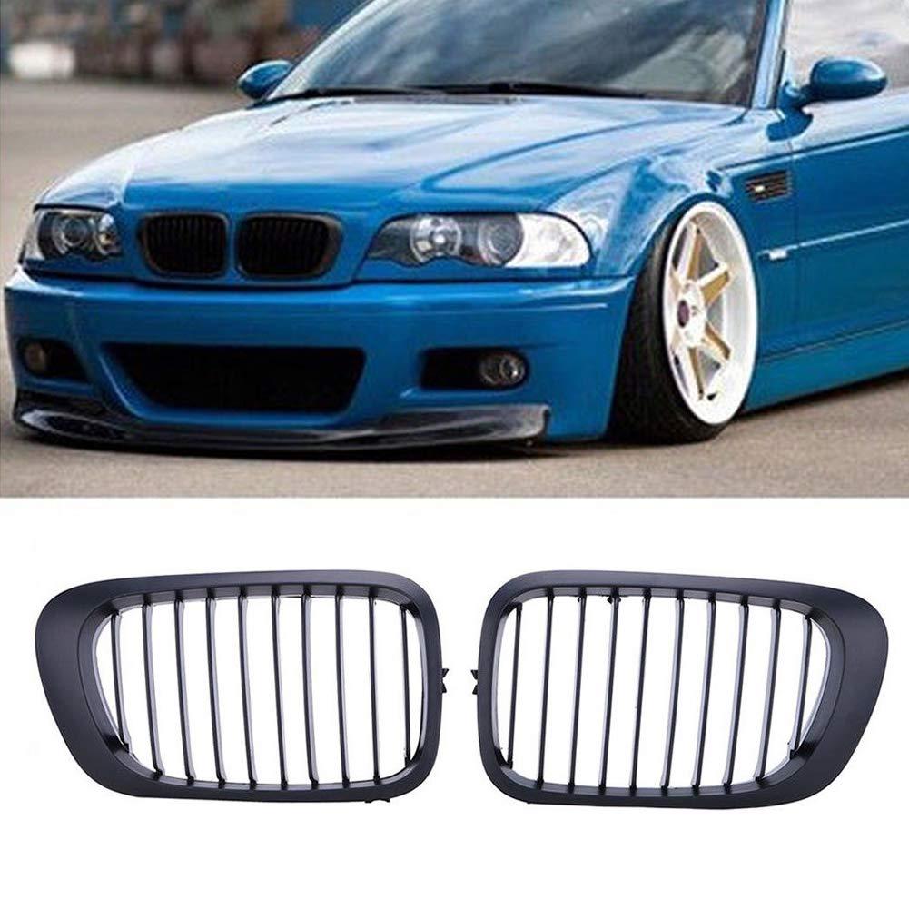 Gankmachine Per BMW E46 1998-2001 2 Coup/é Anteriore del Rene in plastica ABS Griglie Grill Nero Opaco