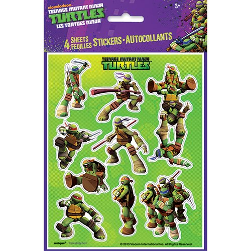Teenage Mutant Ninja Turtles Sticker Sheets, 4ct (Teenage Mutant Ninja Turtles Halloween)