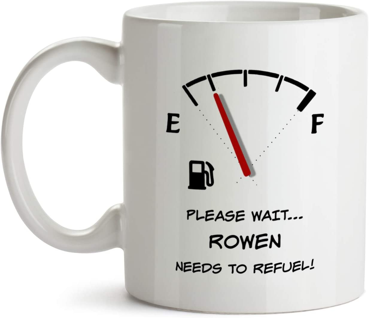 Amazon Com Rowen Gift Mug Aa145 Funny Time To Refuel Personalized Custom Name Appreciation Coffee Tea Cup For Men Inexpensive Coworker Colleague Present Kitchen Dining