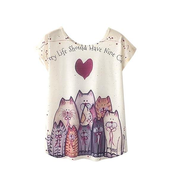 K-Youth Camisetas Mujer Originales Verano Blusa Mujer Elegante Camisas Manga Corta Blusas para Mujer