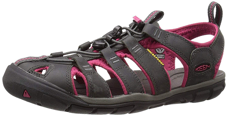 887061945c8 KEEN Women's Clearwater CNX Leather Sandal, Magnet/Sangria, 4 B(M) UK/37  B(M) EU: Amazon.co.uk: Shoes & Bags