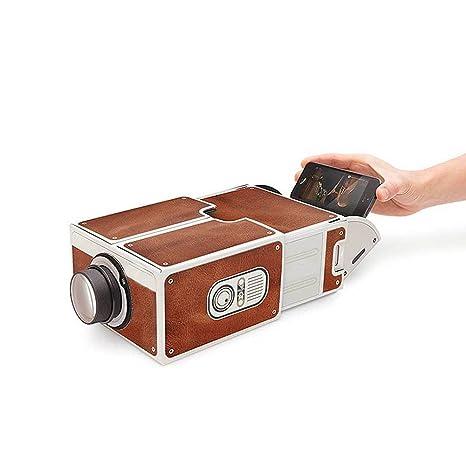 Mostop Diy Cardboard Smartphone Projector Home Theater Mobile Phone Projector Portable Cinema Brown