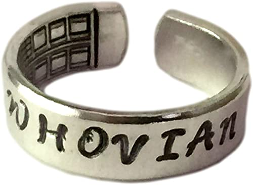 Doctor Who Inspired The Girl Who Waited /& the Last Centurion a Pair of Hand Stamped Aluminum Rings