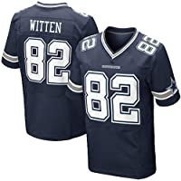 Thole NFL Camisa de Rugby Dallas Cowboys 82# Witten Hombre Home Jersey Juventud Mangas Cortas