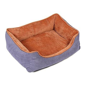 Xianheng Cama Nido de Mascotas Sofá para Perros Gatos Extraíble Lavable Suave Cómodo Antideslizante Púrpura L: Amazon.es: Productos para mascotas