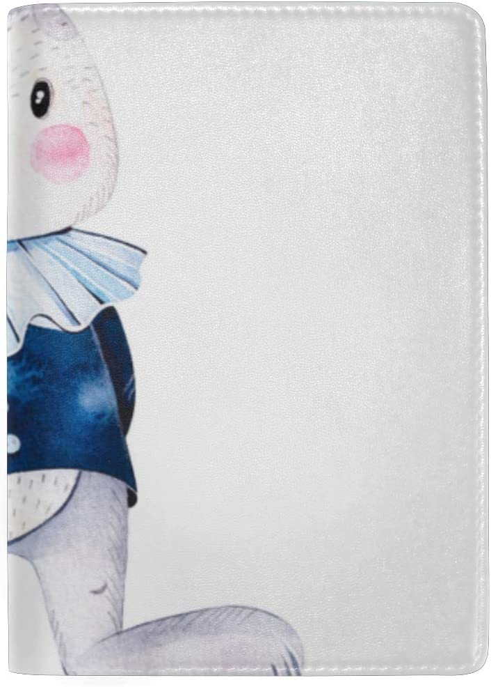 Wonderland Cute Bird With Cylinder Hat Blocking Print Passport Holder Cover Case Travel Luggage Passport Wallet Card Holder Made With Leather For Men Women Kids Family