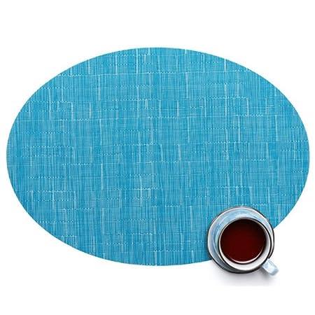 GongDi Caminos de Mesa Color sólido patrón de bambú Mantel de PVC ...