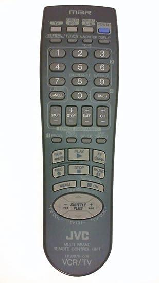 amazon com jvc lp20878 009 vcr tv mbr system remote control for rh amazon com JVC Remote Replacement JVC Remote Codes List