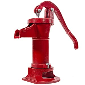 XtremepowerUS Antique Pitcher Hand Water Pump Well Hand Operated Pitcher Pump 25 ft. Lift Press Suction Outdoor Yard Ponds Garden