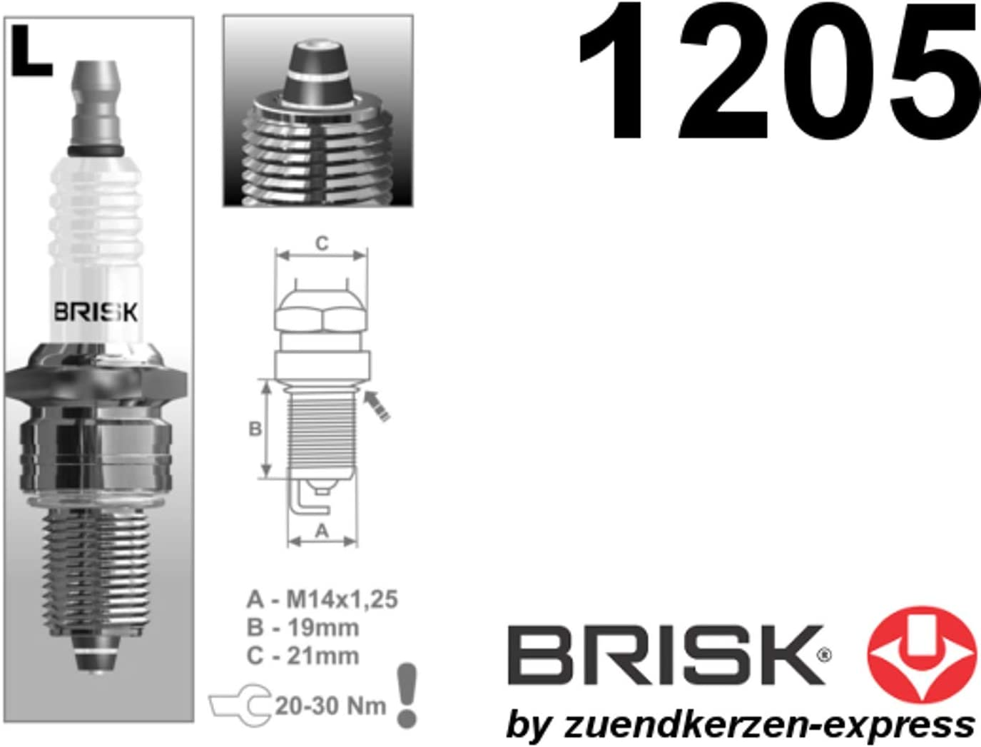 Set di 2 Brisk Premium Racing LR08ZS 1205 Candele daccensione