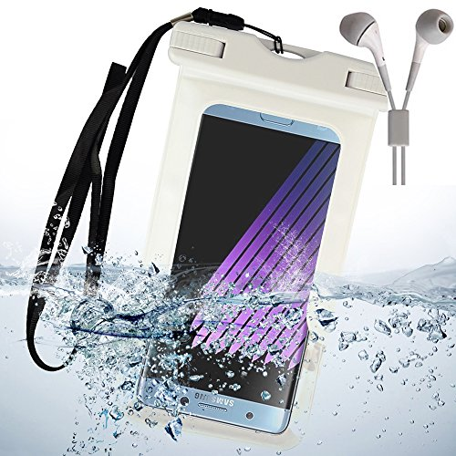 Waterproof case for Samsung Galaxy S8 / S8 Plus / S7 / S7 Edge / S6 / S6 Edge with Neck Lanyard + Color Matching EarBud with Mic