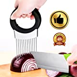 Culinerro – The Best Onion Holder for Slicing All-In-One | Potato holder | Odor Remover | Vegetable Slicer | Onion Chopper Stainless Steel
