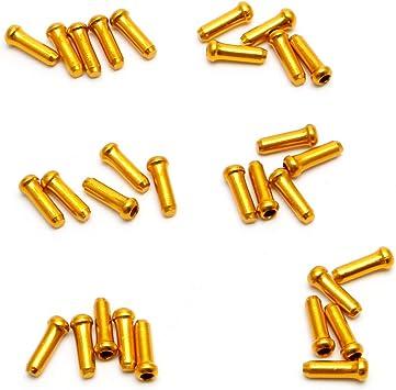 Lergo - 30 piezas de cable de freno para bicicleta MTB, dorado ...