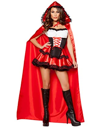 Anguang Mujer Navidad Rojo Cosplay Santa Lujoso Vestir Disfraz ...