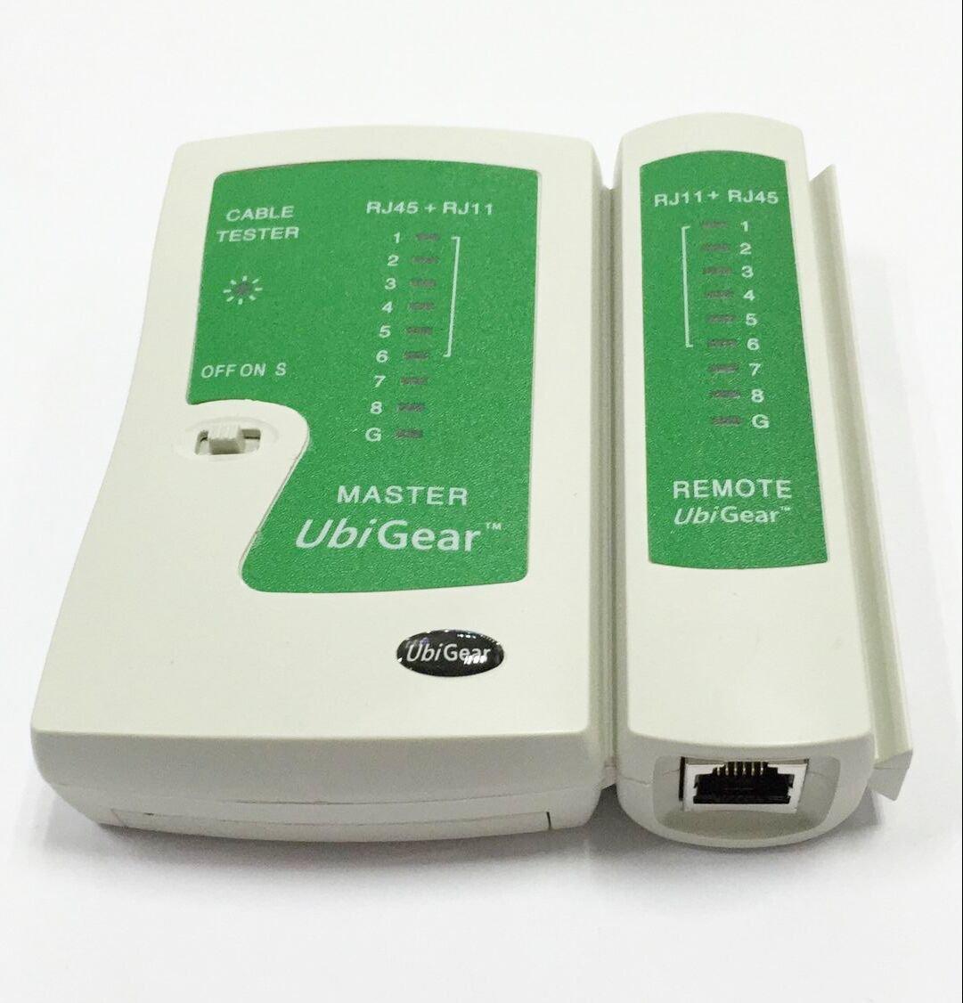 UbiGear Cable Tester +Crimp Crimper +100 RJ45 CAT5 CAT5e Connector Plug Network Tool Kits (Crimper315) by UbiGear