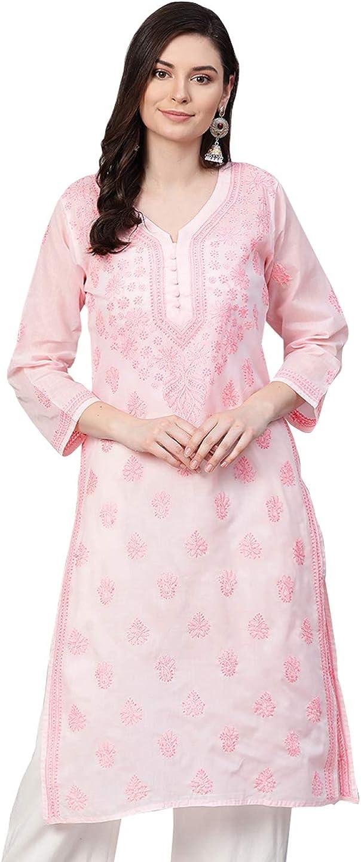Ada Indian Hand Embroidered 35% OFF Chikankari Ranking TOP7 Womens Ku Cotton Straight