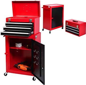 Herramientas en lugar de carro de herramientas caja de herramientas con cajones con ruedas Set: Amazon.es: Bricolaje y herramientas