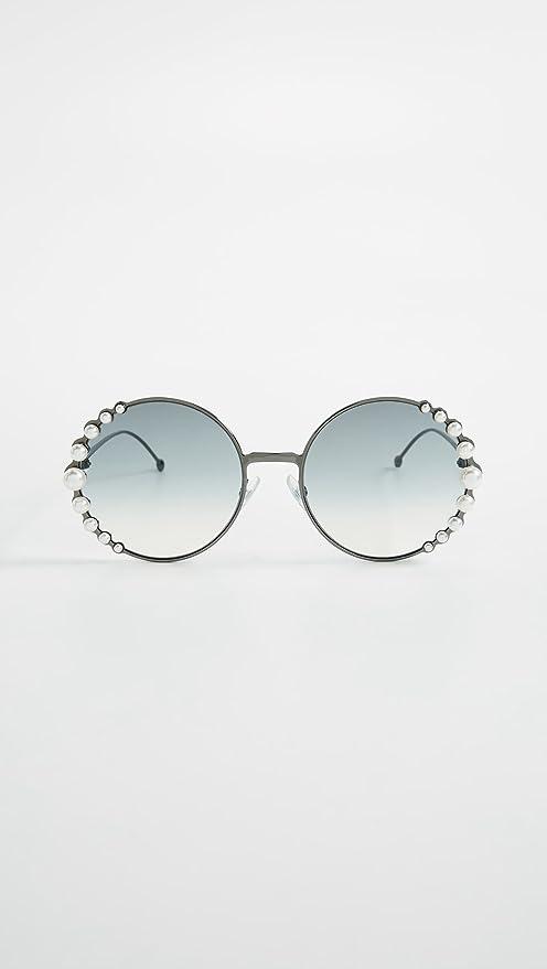 Amazon.com: Fendi - Gafas de sol redondas para mujer, talla ...