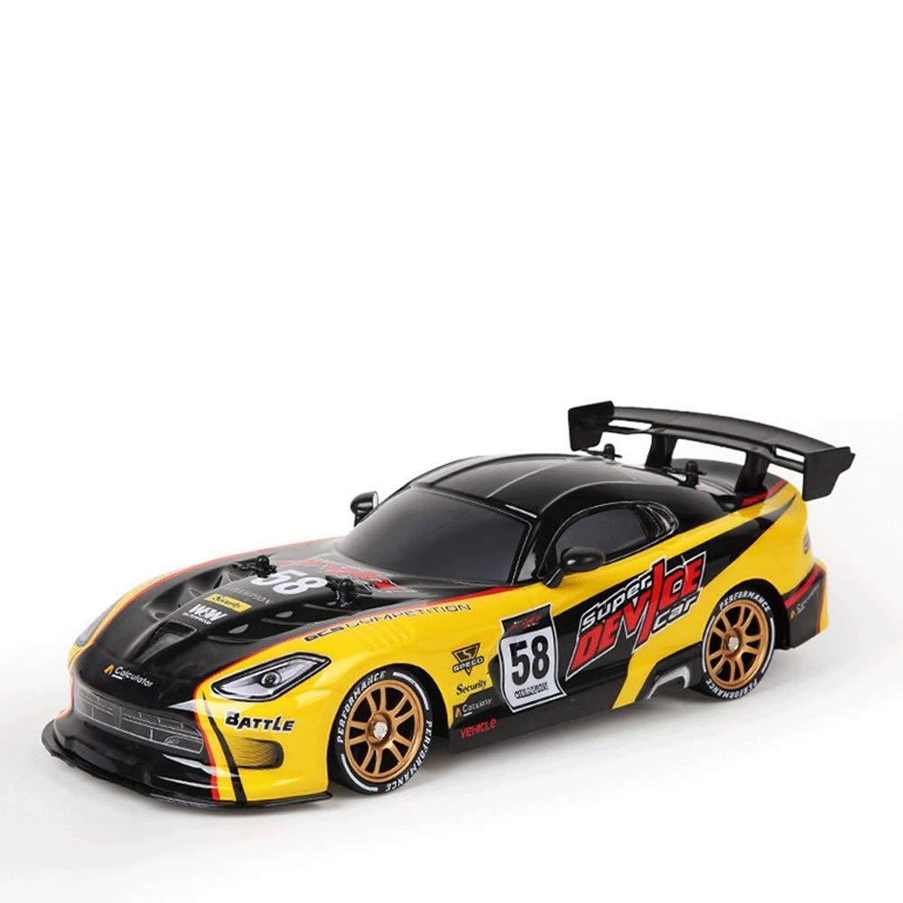 Mopoq Drift Racing Fernbedienung Auto High Speed Allradantrieb Kinder Spielzeugauto Junge Spielzeug Modellauto Austauschbarer Reifen Dual-Use-Drift-Auto Gelb
