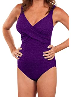 221e625d00 Amazon.com: Krinkle Plus Size Shirred One Piece Chlorine Resistant ...