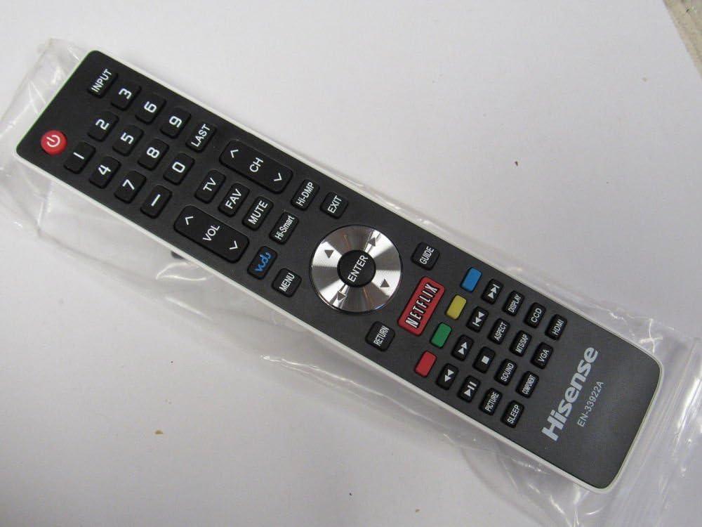 topone Hisense Smart TV mando a distancia en 33922 a funciona con 50 K610gw 32 K366 W 55 K610gw: Amazon.es: Electrónica