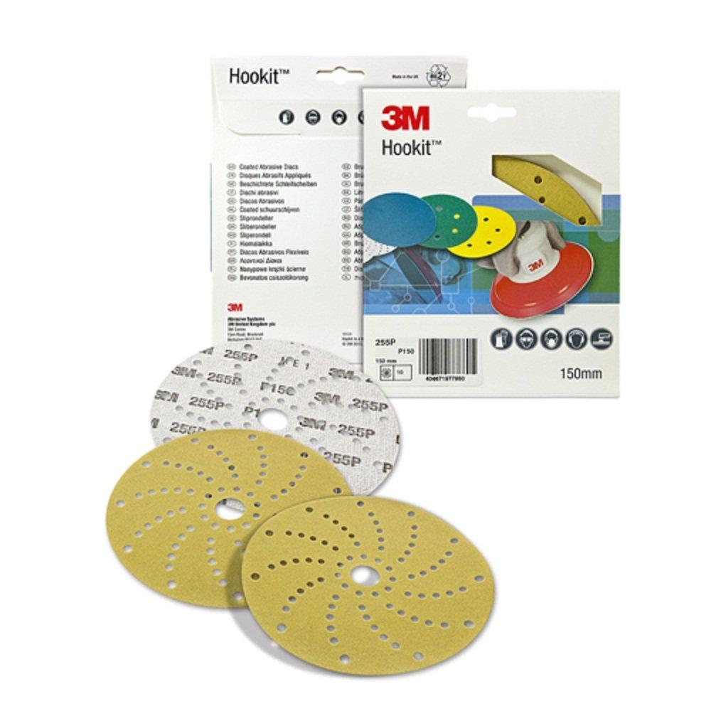 150/mm 3M 255P LD861A Hookit Set di 10 dischi abrasivi P100