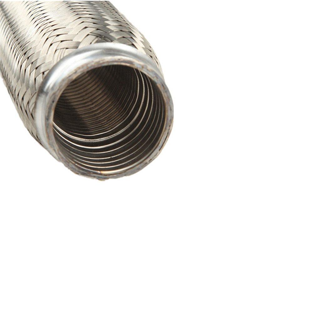 AdlerSpeed 2.5 Exhaust Flex Pipe 2 1//2 x 10 OL Heavy Duty Stainless Steel Interlock