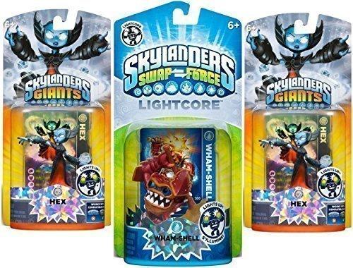 Skylanders Giants Swap Force Lightcore Whamshell Character Plus 2 Characters