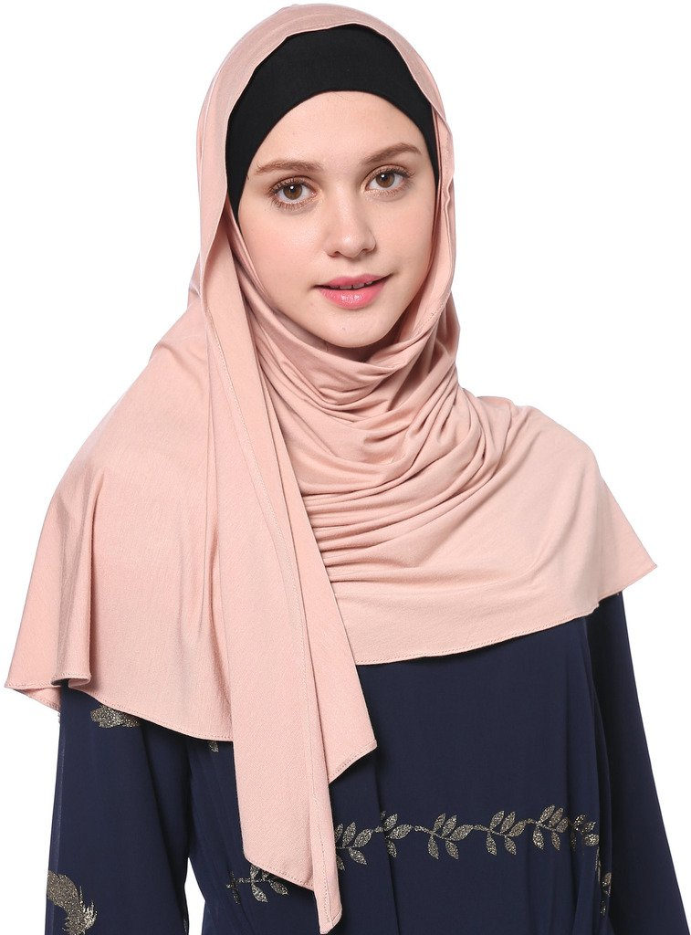 YI HENG MEI Women's Modest Muslim Islamic Soft Solid Cotton Jersey Inner Hijab Full Cover Headscarf,Dark Pink by YI HENG MEI (Image #5)