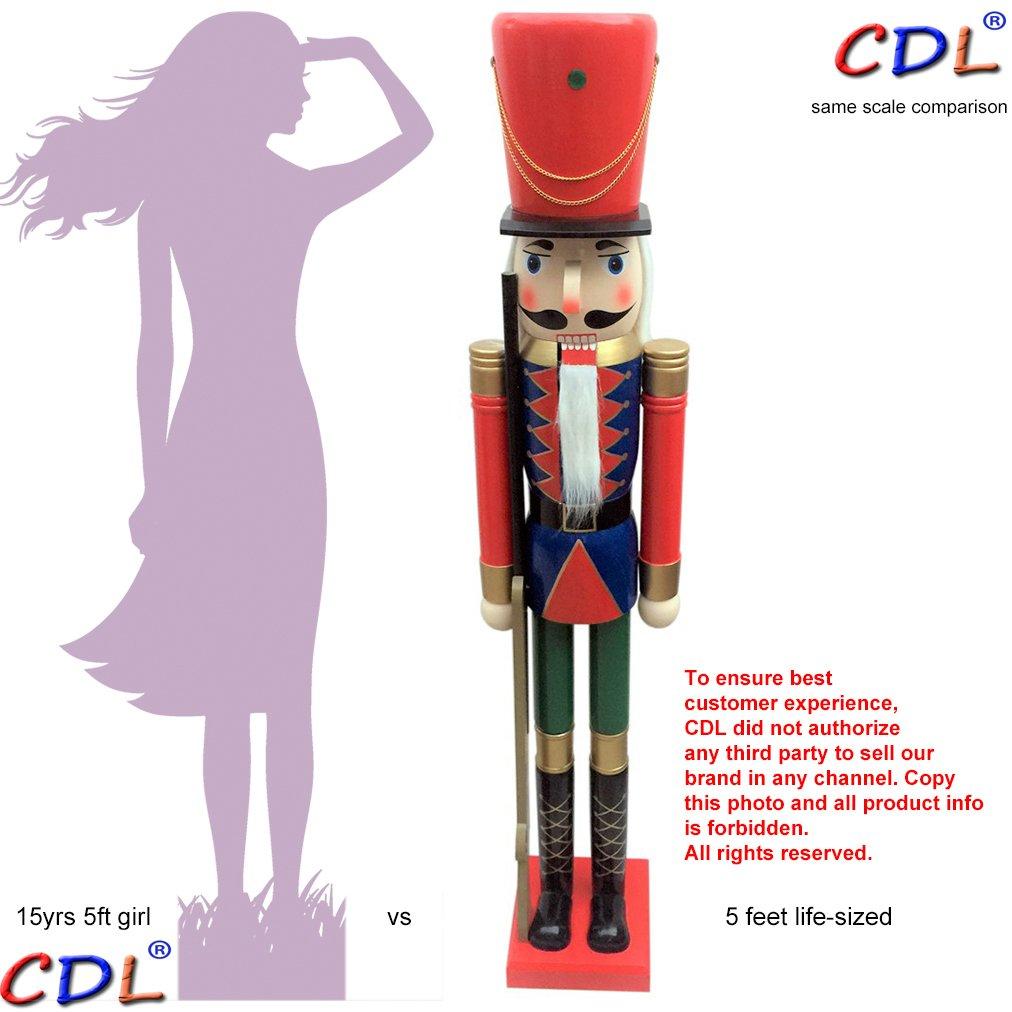 "CDL GIANT 5 FEET New 60"" Decorative wooden Christmas nutcracker soldier K45"