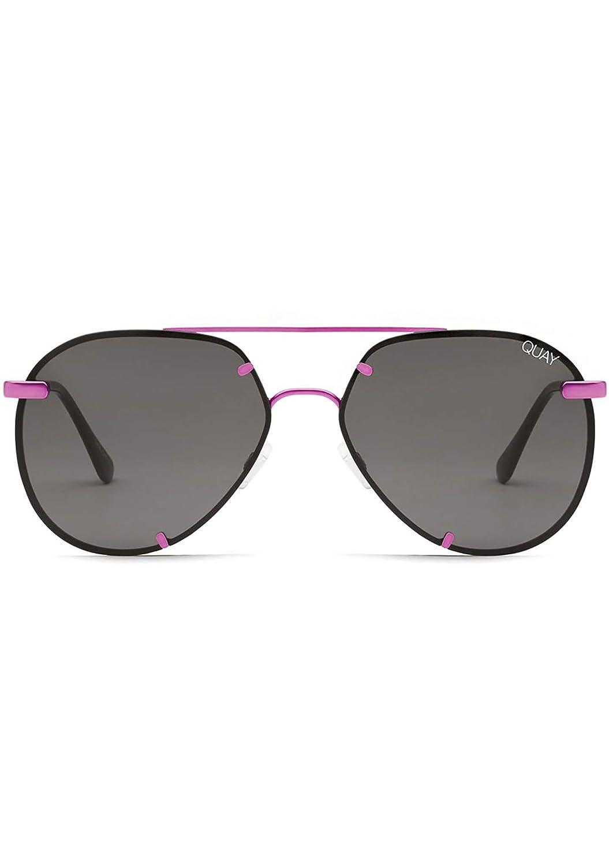 Quay Australia X Nabilla Rebelle Sunglasses in Pink Frame, Black Smoke Lens, One Size