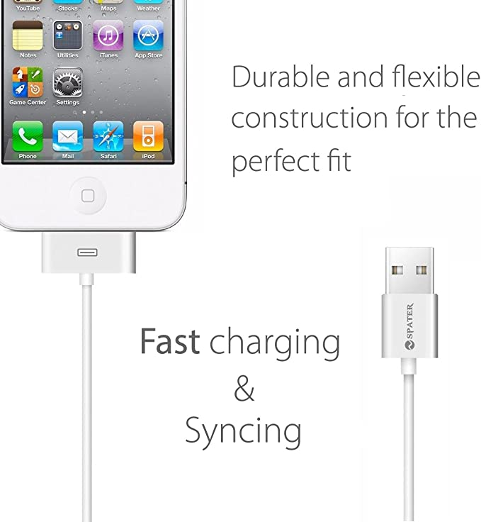 3X 6FT 30 PIN USB DATA SYNC POWER CHARGER CABLE IPHONE 4S IPAD IPOD CLASSIC NANO
