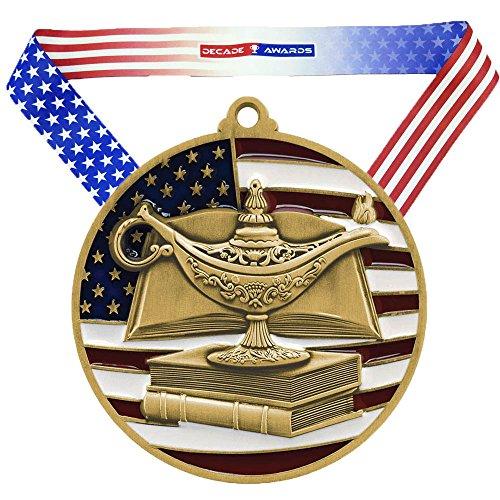 Decade Awards Gold Patriotic Academic Medals - 2.75