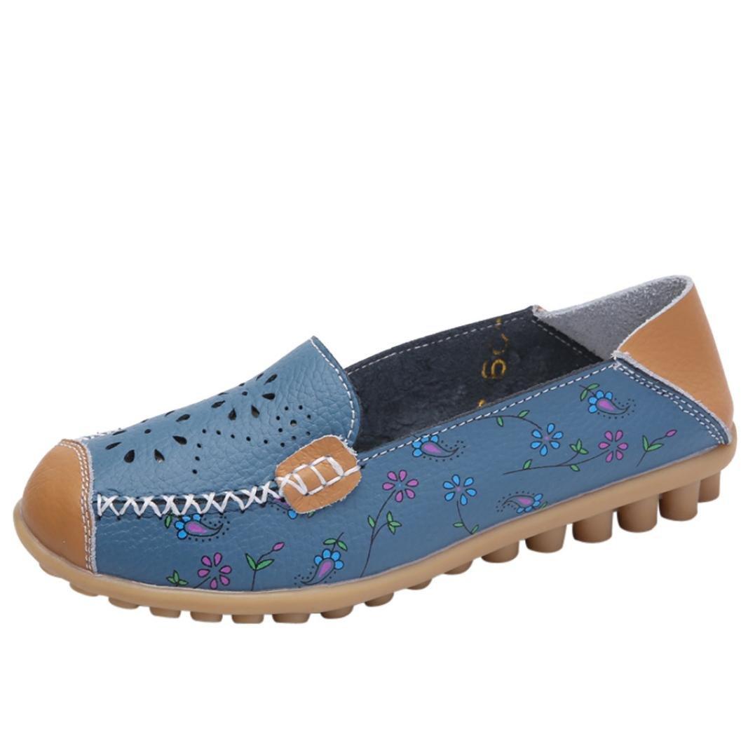 LuckyGirls Zapatillas Mujer Verano Estampado de Floral Heuco Transpirable Moda Alpargatas Cómodo Casual Zapatos Planos Deportivos Náuticos: Amazon.es: ...