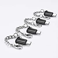4-Pack AINOPE Micro USB to USB C Adapter with Keychain