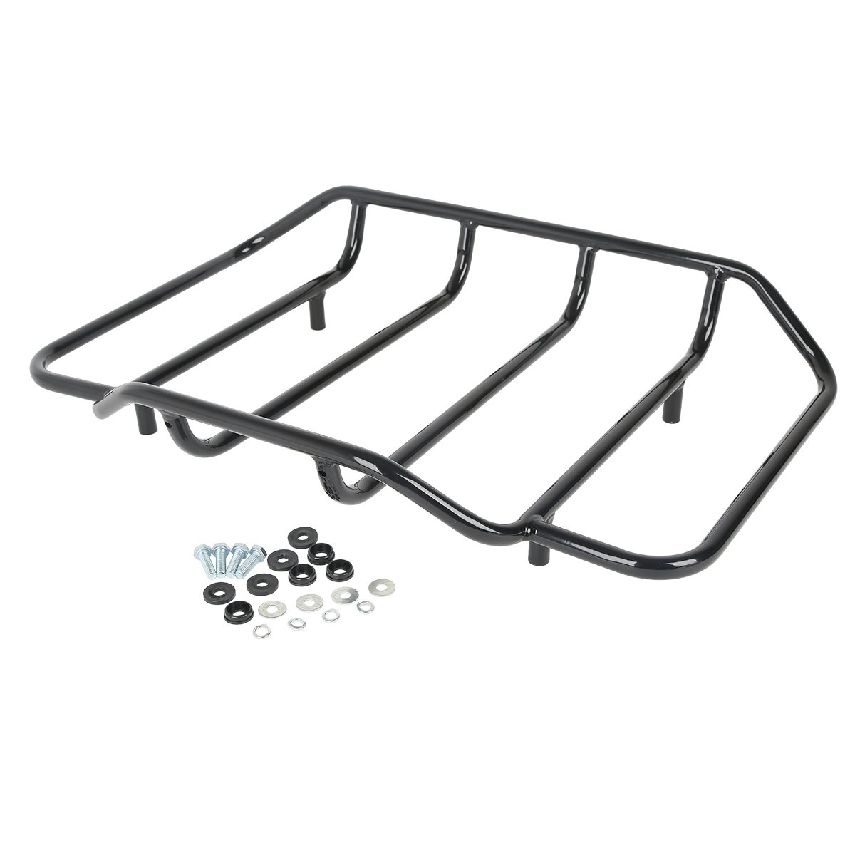 XMT-MOTO Black Tour Pak Luggage Rack For Harley Touring Road King Street Glide Classic(Replace: 53665-87)