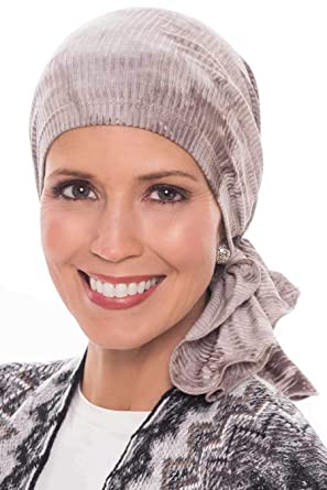 Slip-On Slinky-Caps for Women with Chemo Cancer Hair Loss Beige Tie ... beae10a8e30