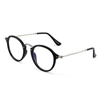 652c742d1814 Retro Round Computer Reading Glasses Blue Light Blocking Video Game  Eyeglasses
