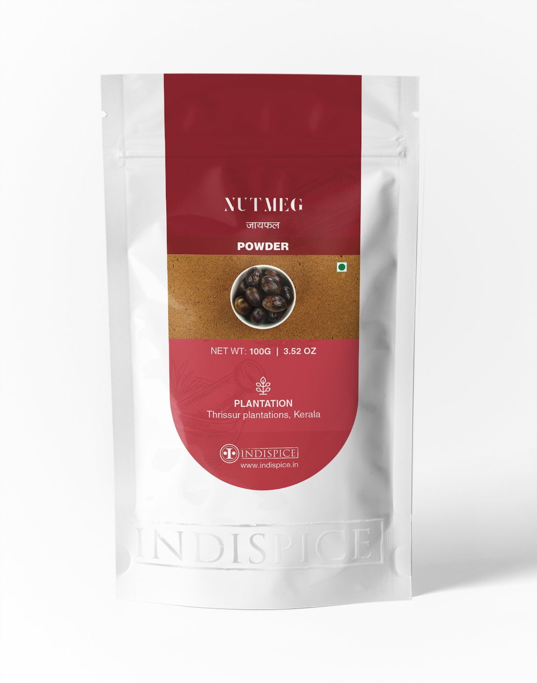 IndiSpice Indian Nutmeg Powder | Sourced from Finest Plantations (3.52Oz)