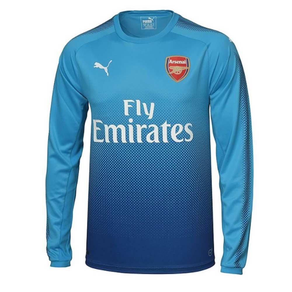Puma 2017-2018 Arsenal Away Long Sleeve Football Soccer T-Shirt Trikot (Kids)