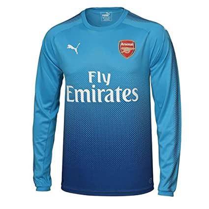 Amazon.com   PUMA 2017-2018 Arsenal Away Long Sleeve Football Soccer ... 7d92c15e3