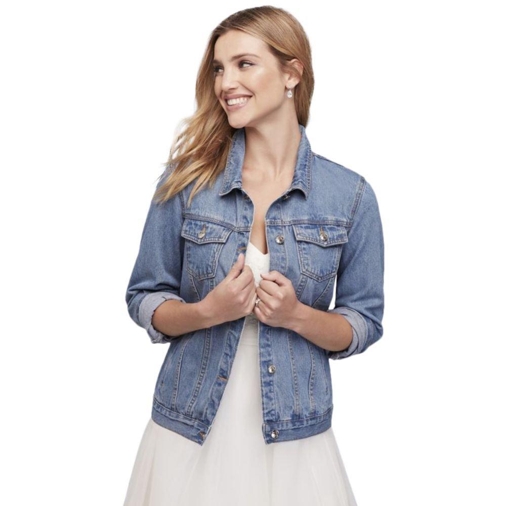 Embroidered Bride Denim Jacket Style J10002, Blue, XL