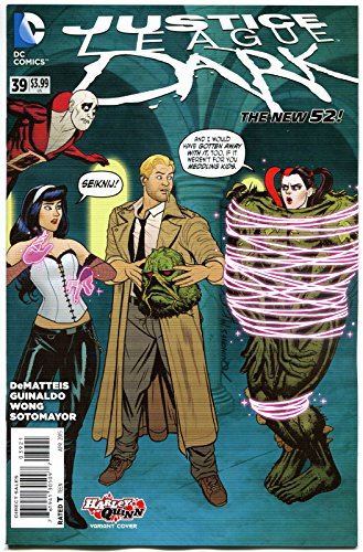 JUSTICE LEAGUE DARK #39, NM, Harley Quinn, 2011, New 52, Variant, Constantine