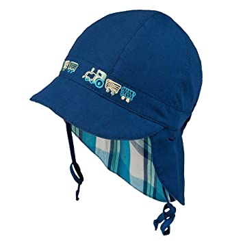 29780272 TIE UP 100% Cotton hat with UV +30 SUN PROTECTION Spring Summer BABY BOYS
